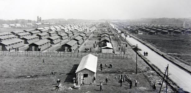 Centre d'accueil des espagnols du camp de Gurs. État des travaux au 22 avril 1939.