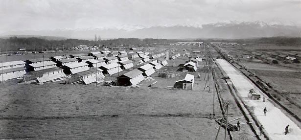 Centre d'accueil des espagnols du camp de Gurs. État des travaux au 6 avril 1939.
