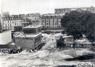 La prison Saint-Lazare vient d'être démolie et laisse place au futur square Alban-Satragne, 1939
