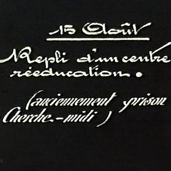 Film amateur de Charles Dudouyt, 15 août 1944, prison du Cherche-Midi. Droits d'auteur Marc Giron.