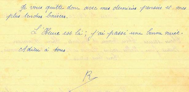Lettre du fusillé Roger Berne, prison du Cherche-Midi, 14 décembre 1941, verso.
