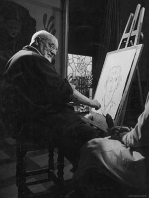 Henri Matisse en son atelier