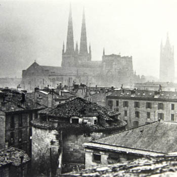 Prison du Fort du Hâ, à Bordeaux, vers 1920. Photo Panajou.