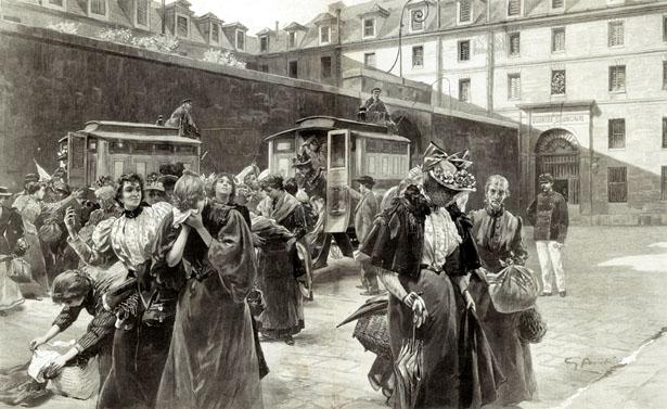 Filles publiques à la prison de Saint-Lazare, Journal L'Illustration du 13 février 1897