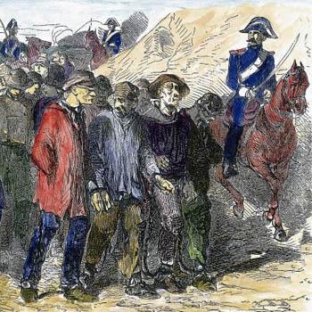 Bagnards du Haut-Rhin conduits au bagne de Toulon, dans la première partie du XIXe siècle