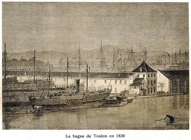 Le bagne de Toulon, illustration de l'article consacré à Benjamin Appert dans Détective du 4 avril 1929.