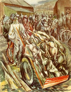 Le petit camp en février 1945, Boris Taslitzky, Cent-onze dessins de Buchenwald