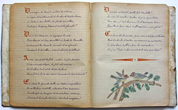 Poème de Noël rédigé par Camus, détenu au Centre pénitentiaire de Mauzac en 1947