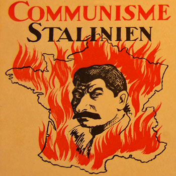 """Couverture de la brochure """"Le communisme stalinien en France"""""""