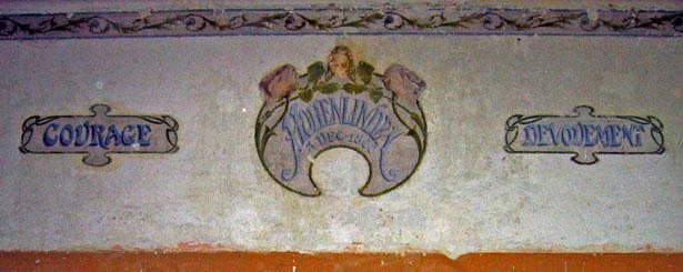 Fresque de la Caserne Chanzy à Bergerac. Vertus militaires…