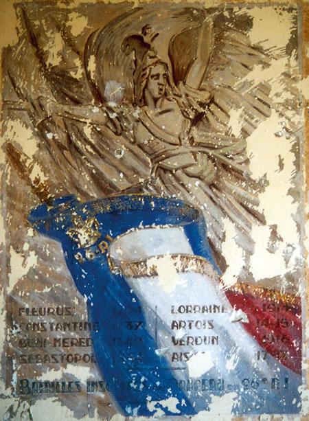 Fresque vichyste de la Caserne Chanzy de Bergerac. La Marseillaise de Rude.