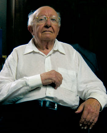 Jean Suret-Canale, La Roquille (Gironde), le 29 septembre 2006, âgé de 85 ans. Photo Jacky Tronel.