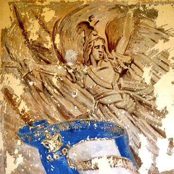 Fresque du 26e RI à la Caserne Chanzy, Bergerac. La Marseillaise de Rude.