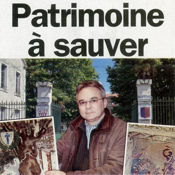 """Première de couverture du journal de Bergerac """"Le démocrate indépendant"""" du jeudi 16 février 2012 consacrée aux fresques historiques de la caserne Chanzy."""