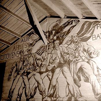 7e fresque de Boris Taslitzky au camp de St-Sulpice la Pointe dans le Tarn