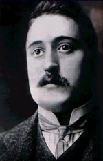 Photo portrait du poète Guillaume Apollinaire
