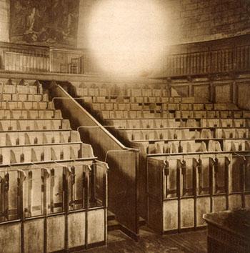 La chapelle de la prison de la Petite Roquette, 1929.