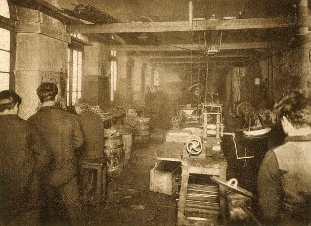 L'atelier des jeunes détenus de la Petite Roquette.