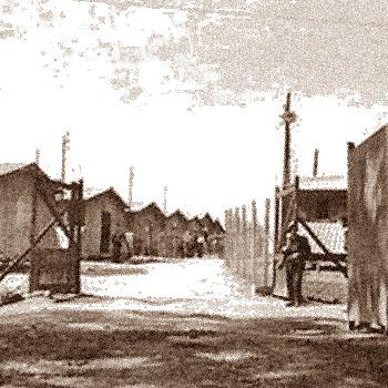 Entrée du Camp de séjour surveillé de Nexon (Haute-Vienne)