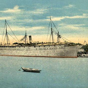 "U.S.S. Southery ""Prison Ship"" Portsmouth Navy Yard, N. H. (1898-1933)"