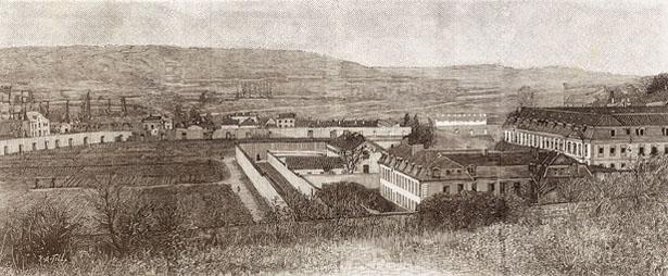 L'habitation du duc de Luynes. – 2. L'hôtel Saint-Bernard. – 3. Fenêtre de la cellule destinée au duc d'Orléans. – 4. Les dortoirs.