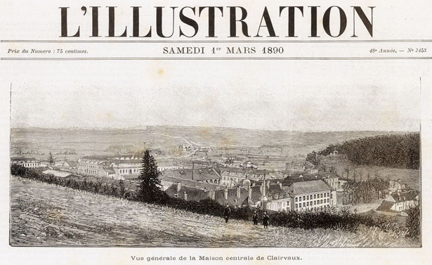 Vue générale de la Maison centrale de Clairvaux.
