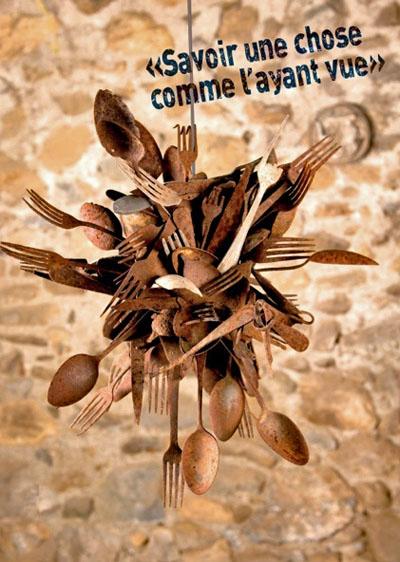 """Affiche de l'exposition de Nicole Bergé : """"Savoir une chose comme l'ayant vue"""" sur le camp de Rivesaltes."""