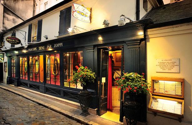 Café Le Procope, 13 rue de l'Ancienne Comédie, 75006 Paris, Métro Odéon.
