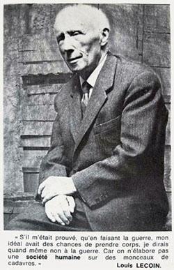 Louis Lecoin, pacifiste et libertaire.