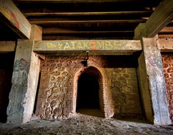 """Camp des Milles, """"Die katakombe""""."""