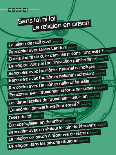 """Dossier """"Sans foi ni loi – La religion en prison"""", Le Passe-Murailles, GENEPI"""
