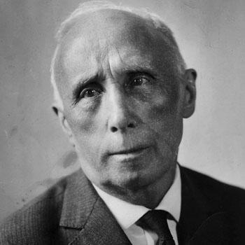 Portrait de Louis Lecoin, anarchiste et pacifiste.