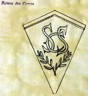Projet d'insigne pour personnel de garde des camps d'internement français à l'été 1943