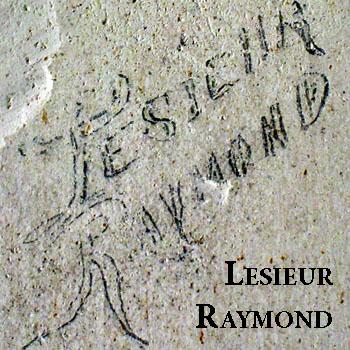 Signature de Raymond Lesieur, emprisonné Villa Le Château à Renneval