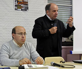 Philippe Souleau et Denis Peschanski aux 7e rencontres historiques du Fort du Portalet.