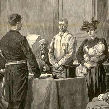 """""""Les noces d'un anarchiste – Le mariage de Bricou à la prison de la Santé. Le Journal illustré du 30 juillet 1893."""