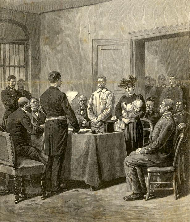 Le mariage de Jean Bricou avec Marie Delange à la prison de la Santé en juillet 1893.