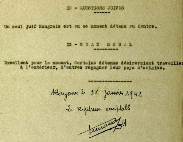 """Rapport d'inspection du CSS """"villa Julia"""" du 26 janvier 2012."""