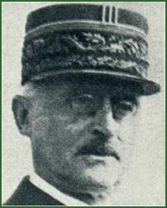 Portrait du Général Héring, gouverneur militaire de Paris en 1939-1940