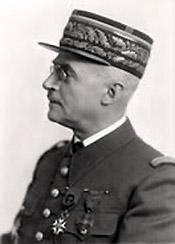 Portrait du Général Héring, profil.