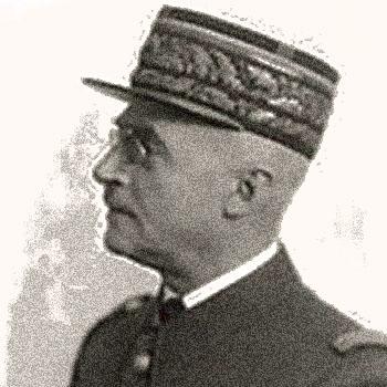 Profil du Général Héring, gouverneur militaire de Paris.