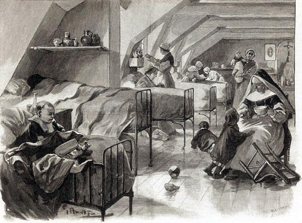 Prison Saint-Lazare, la salle Saint-Joseph réservée aux détenues mères.