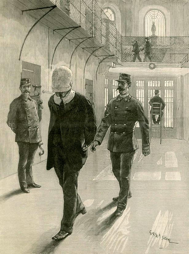 Le masque d'étoffe de la prison d'Étampes, d'après le journal l'Illustration du 15 avril 1893