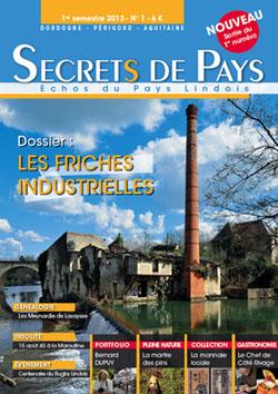 """Couverture du magazine semestriel """"Secrets de Pays – Échos du Pays Lindois"""", n°1, janvier 2013."""