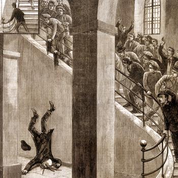 """""""Émouvant suicide à la prison Saint-Paul"""", article du journal """"Le Progrès illustré"""" de Lyon, le 26 février 1893."""