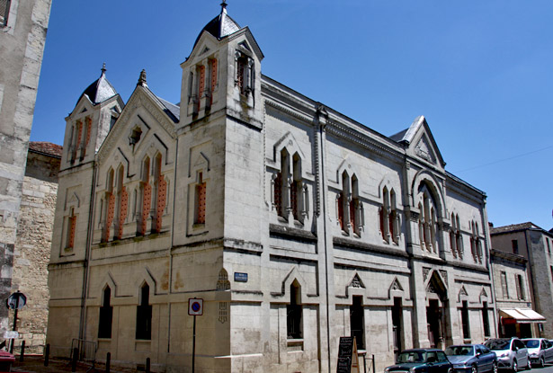Périgueux : le temple maçonnique à l'angle de la rue Saint-Front et de la rue Notre-Dame