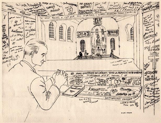 « Chapelle », Ralph Soupault, Fresnes, reportage d'un témoin, 1947.