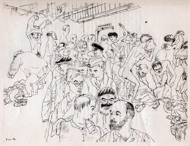 """Douches"", Ralph Soupault, alias Rio, Fresnes, reportage d'un témoin, 1947"