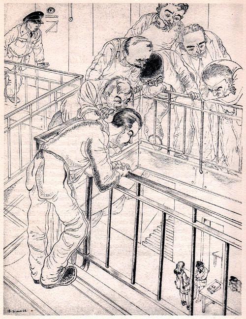 « L'avocate », Ralph Soupault, Fresnes, reportage d'un témoin, 1947, p. 57.