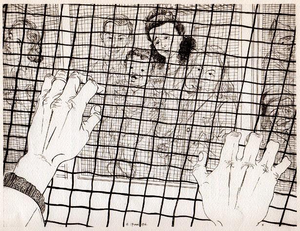 « Parloir », Ralph Soupault, Fresnes, reportage d'un témoin, 1947.